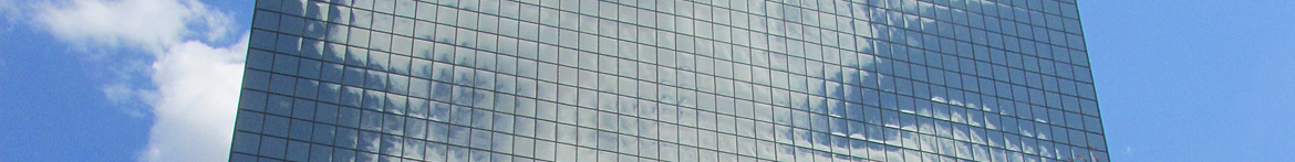 summer glass building facade
