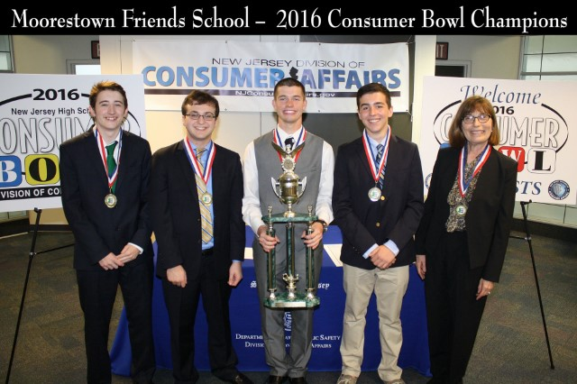 2016 Friends School - 2016 New Jersey High School Consumer Bowl Champions